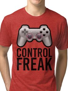 Control Freak Pun Video Game Controller Gamers Tri-blend T-Shirt