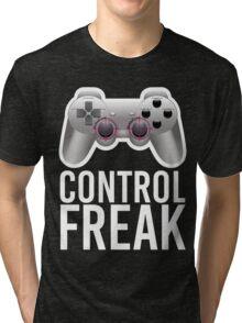 Control Freak Pun Video Game Controller Gamers Tri-blend T-Shirt