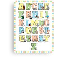 Animal Alphabet Poster Metal Print