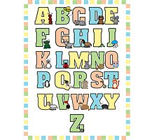 Animal Alphabet Poster Photographic Print