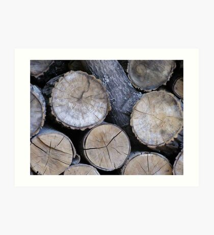 Log Stack Art Print
