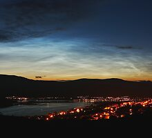 Noctilucent Clouds over Loch Linnhe and Fort William.. by John Cameron