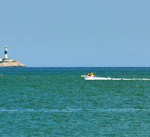 Three Boats and Rockabill by Martina Fagan