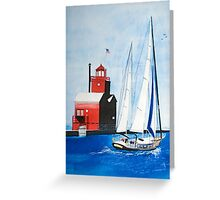 Leaving The Harbor Greeting Card