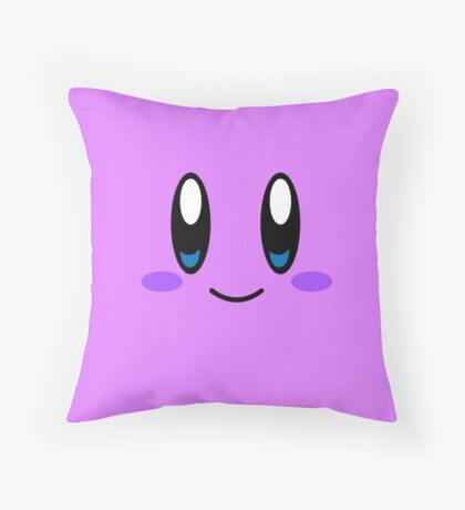 Kirby Face (Purple) Throw Pillow