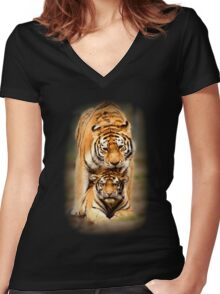 Mother's Love Women's Fitted V-Neck T-Shirt
