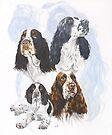 English Springer Spaniel with Ghost Image by BarbBarcikKeith