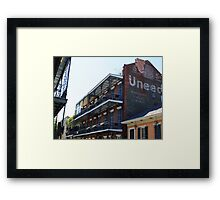 French Quarter Balconies Framed Print