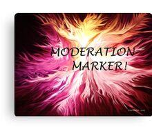 MODERATION MARKER Canvas Print