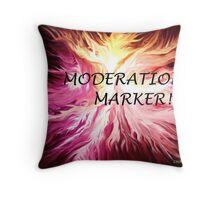 MODERATION MARKER Throw Pillow