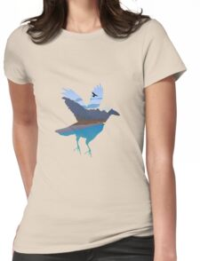 Raven in the valley Womens Fitted T-Shirt