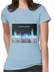 London Skyline With Banner Womens Fitted T-Shirt