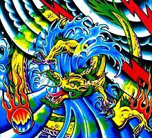 Oriental Tattoo Dragon Fantasy by Delights