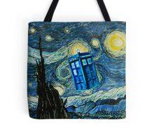 British Blue phone box painting Tote Bag