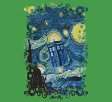 British Blue phone box painting One Piece - Short Sleeve