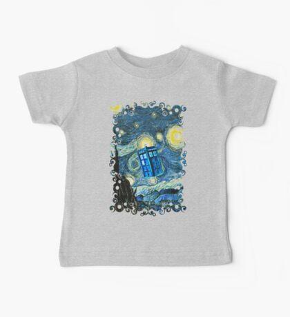 British Blue phone box painting Baby Tee