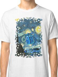 British Blue phone box painting Classic T-Shirt