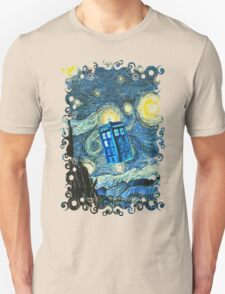 British Blue phone box painting Unisex T-Shirt