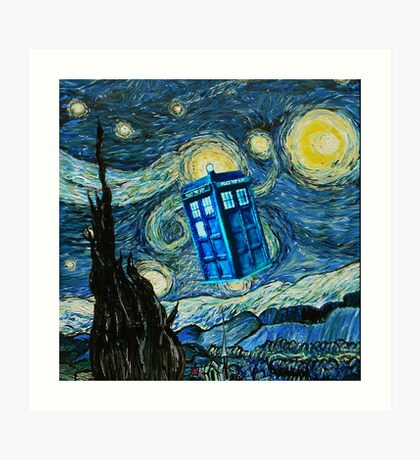 British Blue phone box painting Art Print