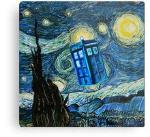 British Blue phone box painting Metal Print