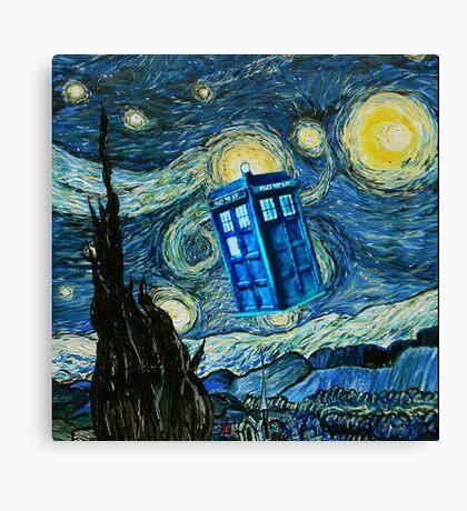 British Blue phone box painting Canvas Print