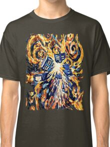 Big Bang Attack Exploded Flamed Phone booth painting Classic T-Shirt