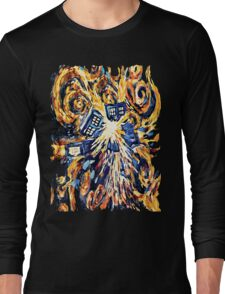 Big Bang Attack Exploded Flamed Phone booth painting Long Sleeve T-Shirt
