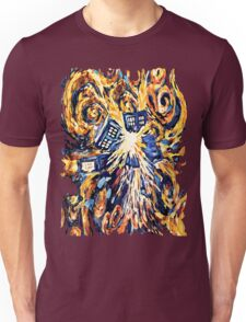 Big Bang Attack Exploded Flamed Phone booth painting Unisex T-Shirt