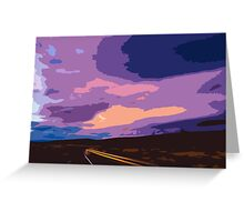 Drive into Oblivion Greeting Card