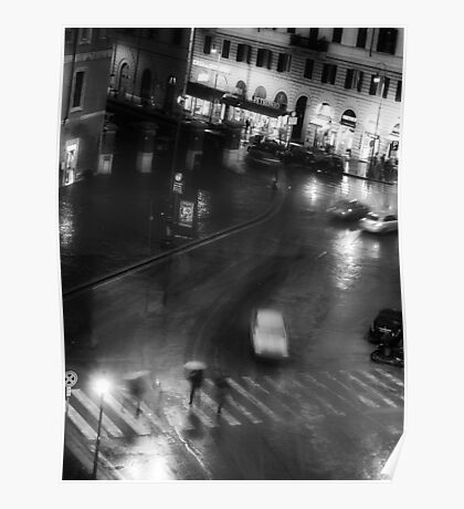 Rainy Evening in Rome Poster