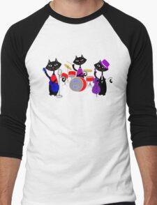 Cool For Cats Music Themed Men's Baseball ¾ T-Shirt