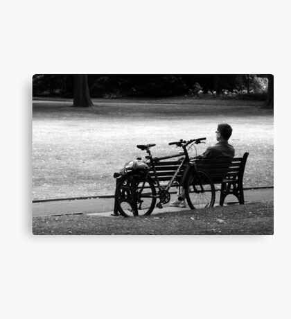 A Rest In the Park Canvas Print