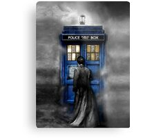 Mysterious Time traveller with Black suit Metal Print