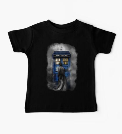 Mysterious Time traveller with Black suit Baby Tee