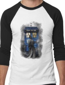 Mysterious Time traveller with Black suit Men's Baseball ¾ T-Shirt