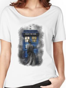 Mysterious Time traveller with Black suit Women's Relaxed Fit T-Shirt
