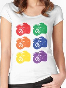 ROYGBV Camera Women's Fitted Scoop T-Shirt