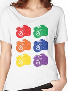 ROYGBV Camera Women's Relaxed Fit T-Shirt