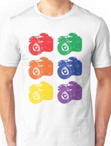 ROYGBV Camera Unisex T-Shirt
