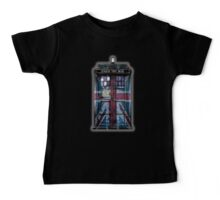 British Union Jack Space And Time traveller Baby Tee