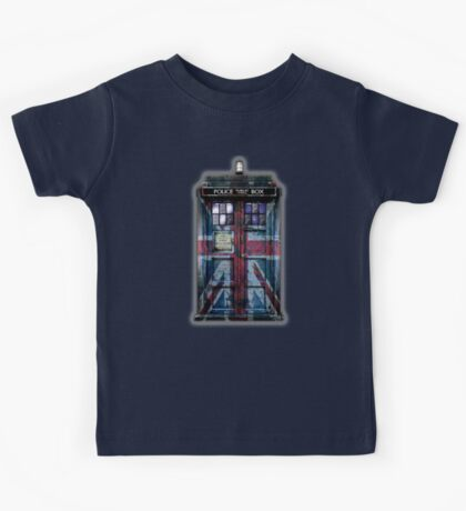 British Union Jack Space And Time traveller Kids Tee
