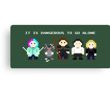 Team Dresden: It is dangerous to go alone Canvas Print