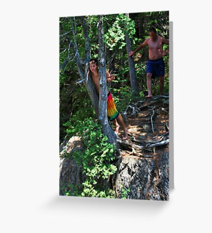 Smalls Falls Leap of Faith #1 Greeting Card