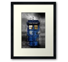 Haunted blue phone booth Framed Print
