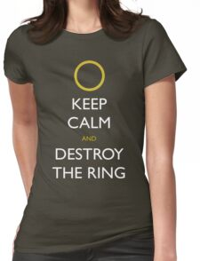 Frodo Keep Calm Womens Fitted T-Shirt