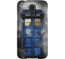 Haunted blue phone booth Samsung Galaxy Case/Skin