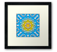 Wat Window with Pedals Framed Print