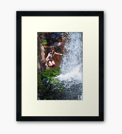 Smalls Falls Leap of Faith #5 Framed Print