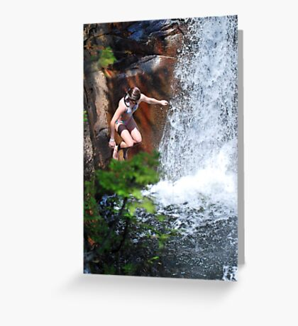 Smalls Falls Leap of Faith #5 Greeting Card