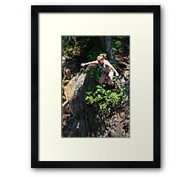Smalls Falls Leap of Faith #6 Framed Print